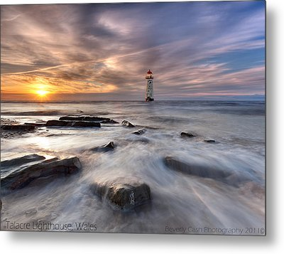 Talacre Lighthouse  Metal Print by Beverly Cash