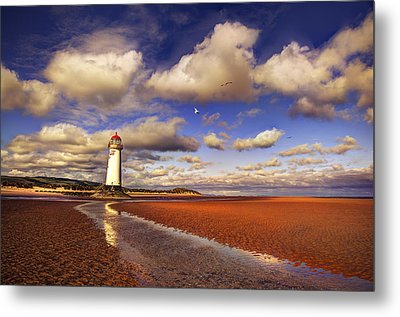 Talacre Lighthouse Metal Print by Mal Bray
