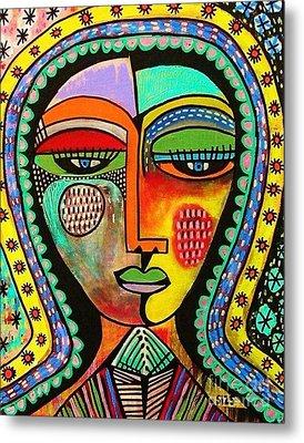 -talavera Virgin Of Guadalupe Blessings Metal Print