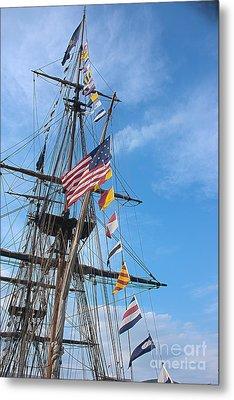Tall Ships Banners Metal Print by David Bearden