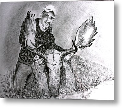 Tamed Moose Metal Print by Carolyn Ardolino