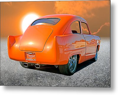 Tangerine Sunset Metal Print by Stephen Warren