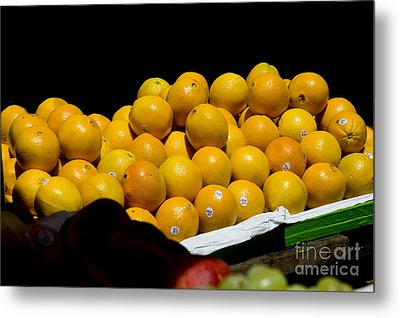 Tangerines For Sale Metal Print by Tim Mulina