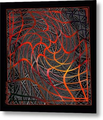 Tangled Web Of Lies Metal Print by Ginny Schmidt