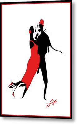 Metal Print featuring the drawing Tango 1 Card by Jann Paxton