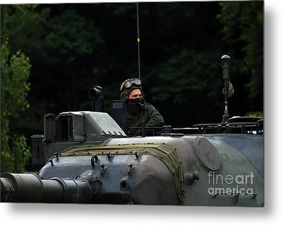 Tank Commander Of A Leopard 1a5 Mbt Metal Print by Luc De Jaeger
