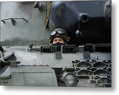 Tank Driver Of A Leopard 1a5 Mbt Metal Print by Luc De Jaeger