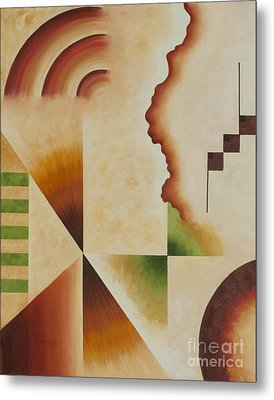 Metal Print featuring the painting Taos Series- Architectural Journey I by Arthaven Studios