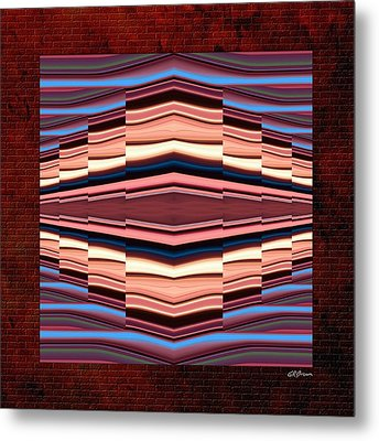 Tapestry On A Brick Wall Metal Print by Greg Reed Brown