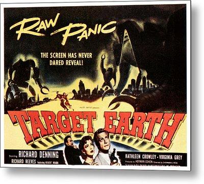 Target Earth, Bottom Center Kathleen Metal Print by Everett