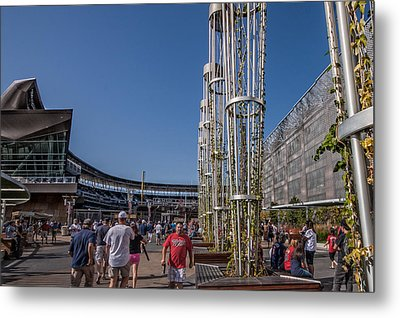 Metal Print featuring the photograph Target Plaza by Tom Gort