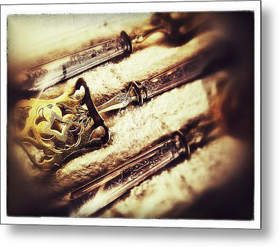 Tarnished Metal Print by Olivier Calas