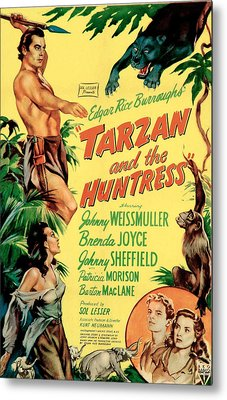 Tarzan And The Huntress, Patricia Metal Print by Everett