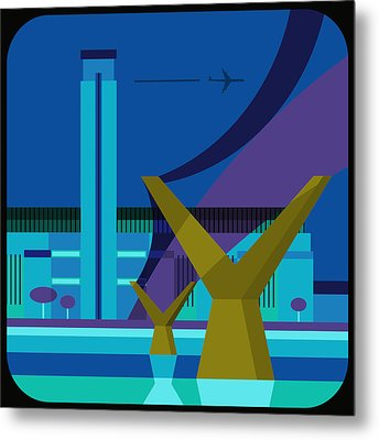 Tate Gallery And Millennium Bridge, London, United Kingdom Metal Print by Nigel Sandor