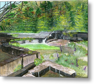 Metal Print featuring the painting Taughannock Vista Ithaca New York by Melly Terpening