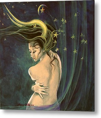 Taurus From Zodiac Series Metal Print by Dorina  Costras