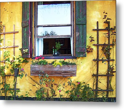 Metal Print featuring the photograph Tavern Window by Ginny Schmidt