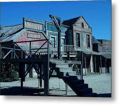 Taverna Western Village In Spain Metal Print