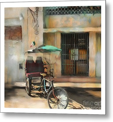 taxi built for two Cuba Metal Print by Bob Salo
