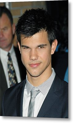 Taylor Lautner  At Arrivals For Special Metal Print by Everett