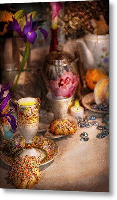 Tea Party - The Magic Of A Tea Party  Metal Print by Mike Savad