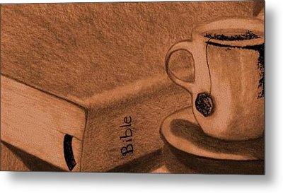 Tea With Jesus Metal Print by Shannon Redmon