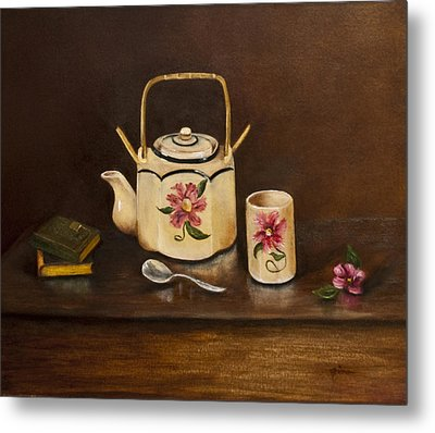 Tea With Mom And Grandma Metal Print by Gina Cordova