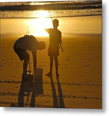 Metal Print featuring the photograph Teach A Man To Fish... by Eric Tressler
