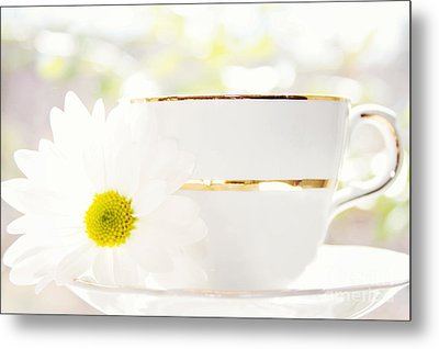 Teacup Filled With Sunshine Metal Print by Kim Fearheiley
