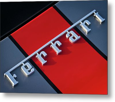 Team Ferrari Metal Print by Douglas Pittman