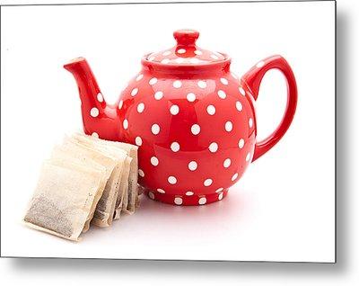 Teapot Metal Print by Tom Gowanlock