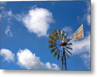 Temecula Wine Country Windmill Metal Print by Peter Tellone