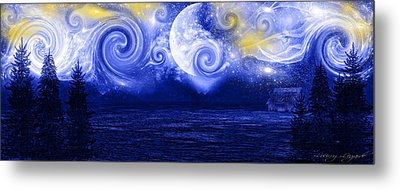Tempestuous Night Metal Print by Lourry Legarde