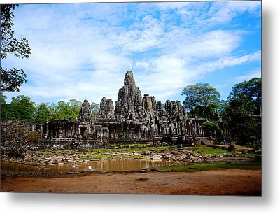 Temple Metal Print by Arik S Mintorogo
