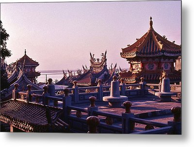 Metal Print featuring the photograph Temple Near Peitou Taiwan by Craig Wood