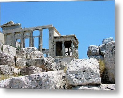 Temple Of Athena On Acropolis Metal Print