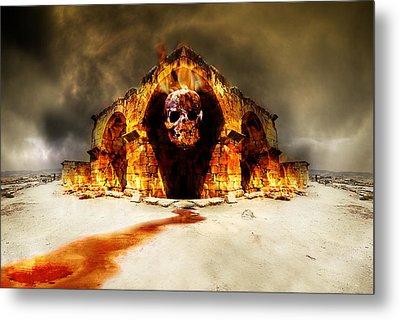 Temple Of Death Metal Print by Jaroslaw Grudzinski
