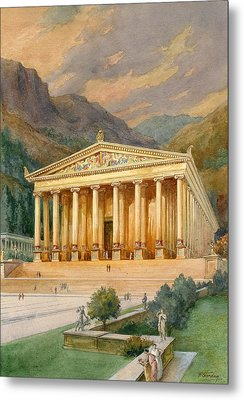 Temple Of Diana Metal Print by English School