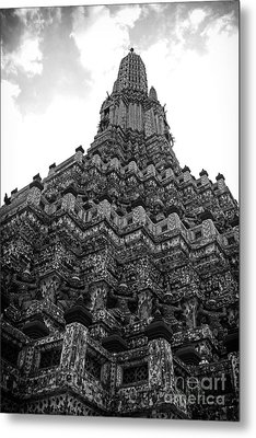 Metal Print featuring the photograph Temple Pillar by Thanh Tran