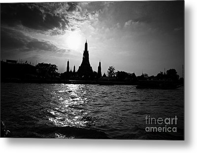 Metal Print featuring the photograph Temple Silhouette by Thanh Tran