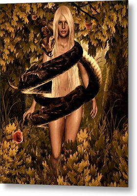 Temptation And Fall Metal Print