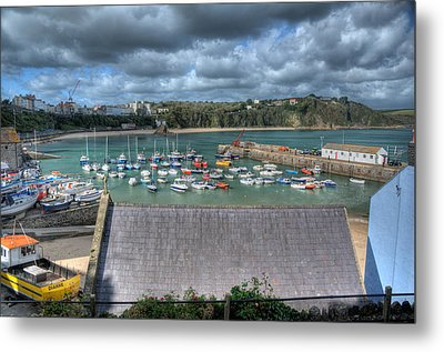 Metal Print featuring the photograph Tenby Harbour Pembrokeshire 1 by Steve Purnell