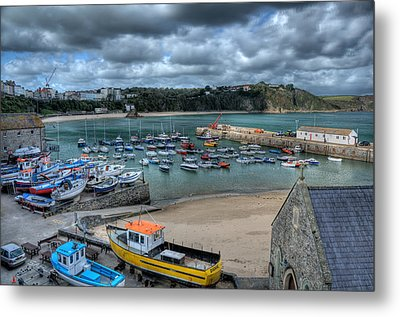 Metal Print featuring the photograph Tenby Harbour Pembrokeshire 2 by Steve Purnell