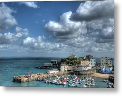 Metal Print featuring the photograph Tenby Harbour Pembrokeshire 3 by Steve Purnell