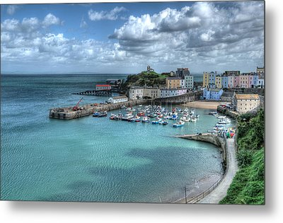 Metal Print featuring the photograph Tenby Harbour Pembrokeshire 4 by Steve Purnell