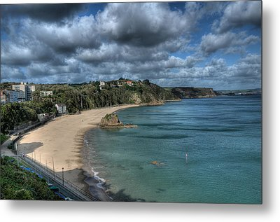 Metal Print featuring the photograph Tenby North Beach Pembrokeshire  by Steve Purnell