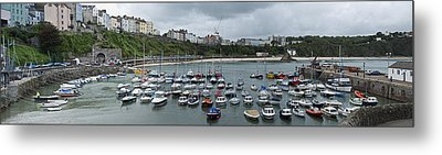 Metal Print featuring the photograph Tenby Panorama by Steve Purnell