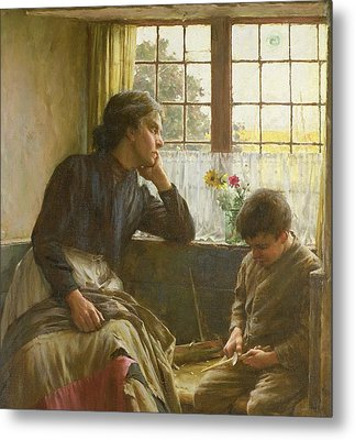 Tender Grace Of A Day That Is Dead Metal Print by Walter Langley