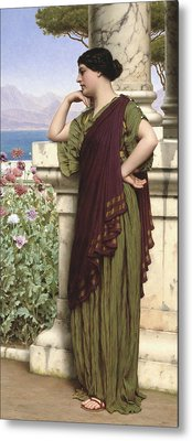 Tender Thoughts Metal Print by John William Godward