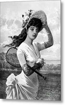Tennis, 1887 Metal Print by Granger